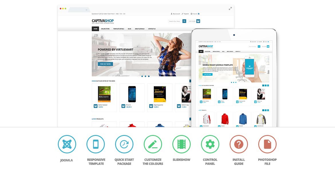 create an e-commerce website with Captiva shop today