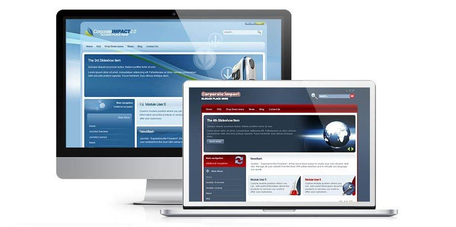 Corporate impact template for Joomla