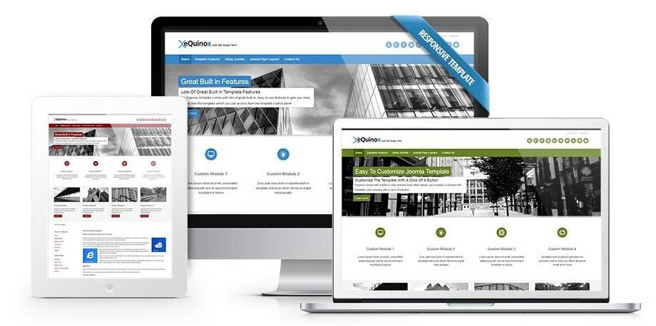 Create a responsive website with Equinox today