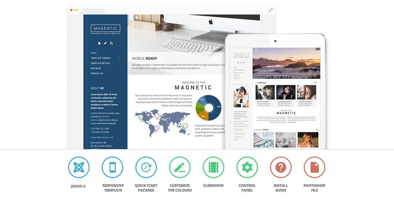 magnetic joomla template build a mobile friendly website today. Black Bedroom Furniture Sets. Home Design Ideas