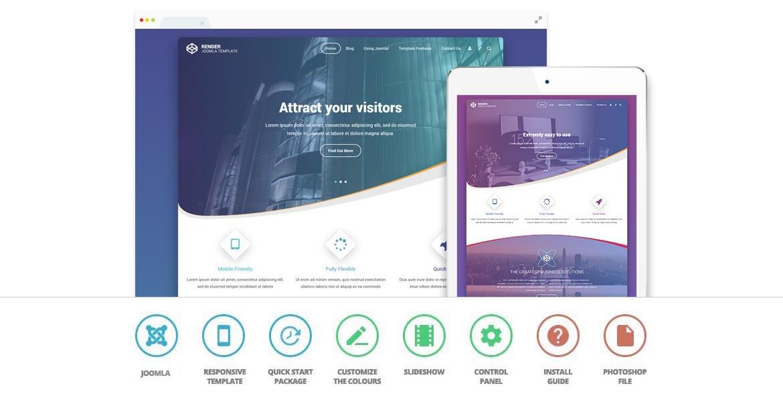 Render Joomla Template For Web Designers & Business