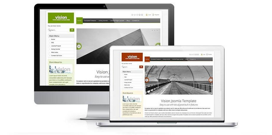 Vision business Joomla template