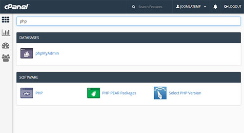 cpanel select php7
