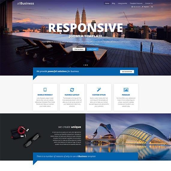 business report joomla template creator