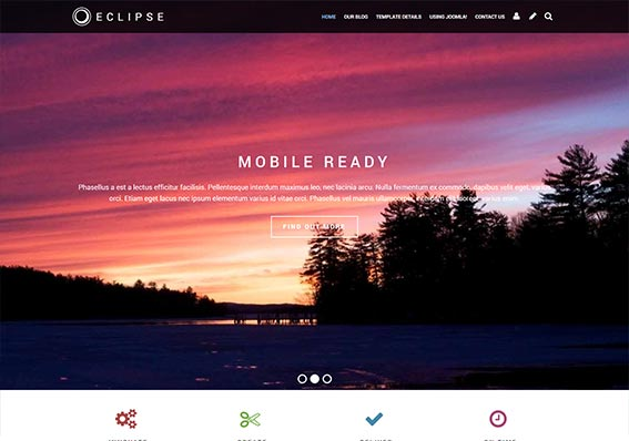 Create a responsive mobile ready website using Eclipse today