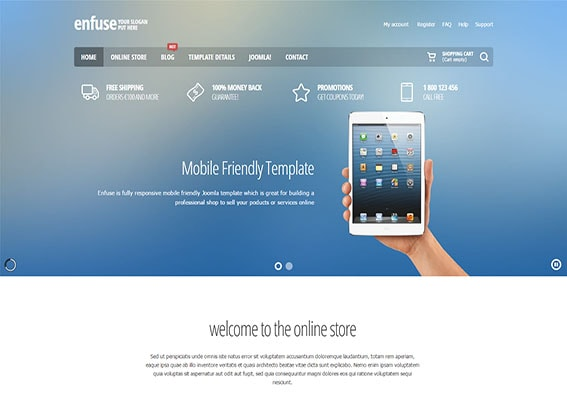 Build an e-commerce website with the Enfuse shop today