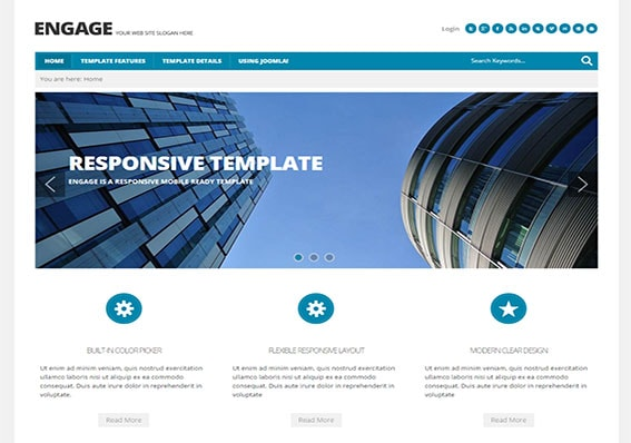 build a mobile ready business website today with Engage
