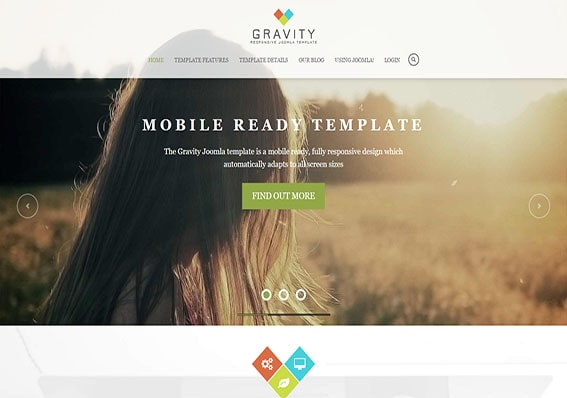 Download Gravity to build a responsive website today