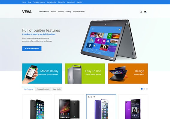 Build an amazing e-commerce website today with Venda shop