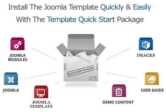 Joomla template quickstart diagram